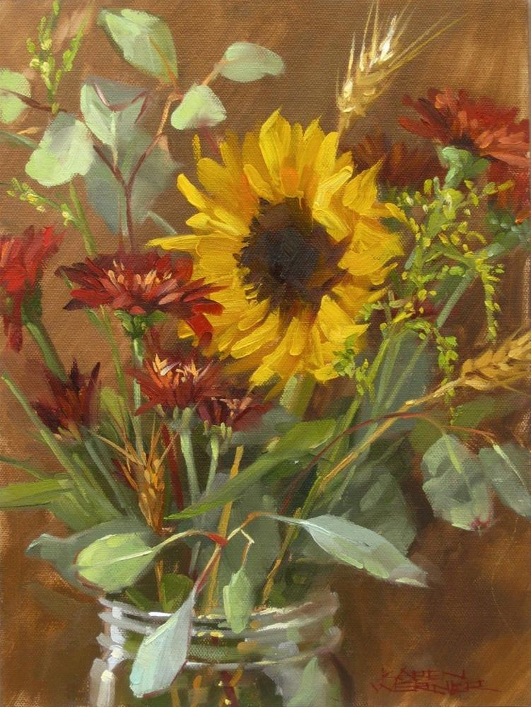 """Fall Bouquet"" original fine art by Karen Werner"