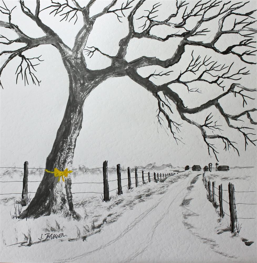 """""""The Old Oak Tree"""" original fine art by Jack Brauer"""