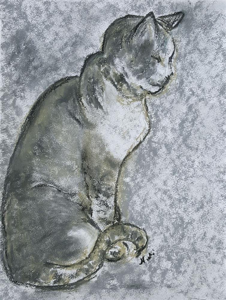 """Cat in Zen"" original fine art by Niki Hilsabeck"