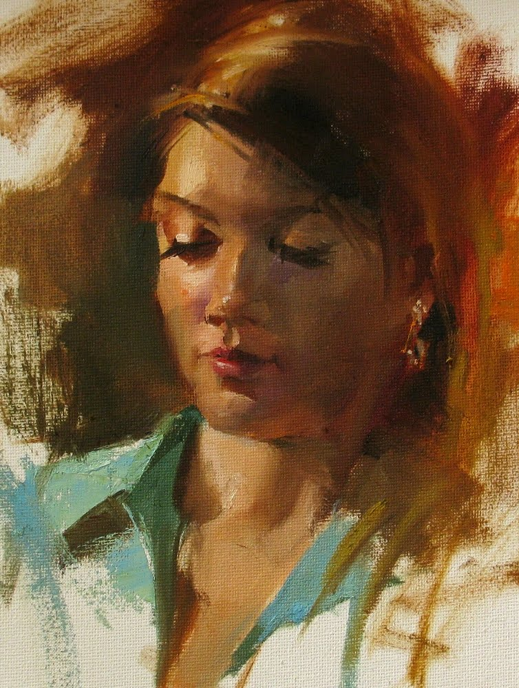 """Katherine"" original fine art by Qiang Huang"