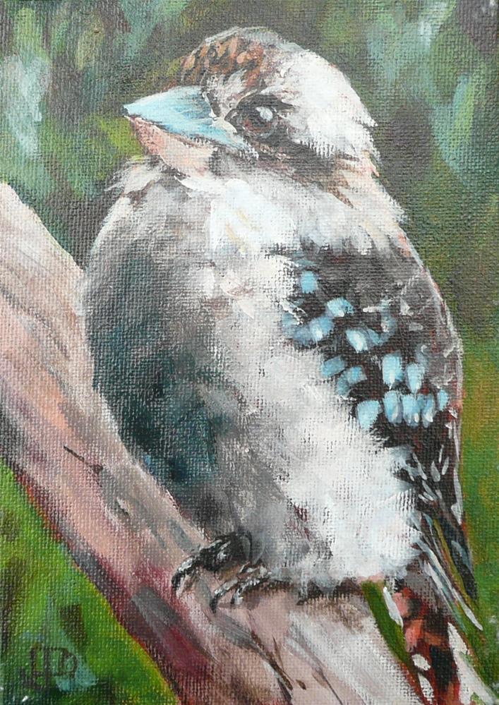 """""""Young Kookaburra"""" original fine art by Leanne Owen"""