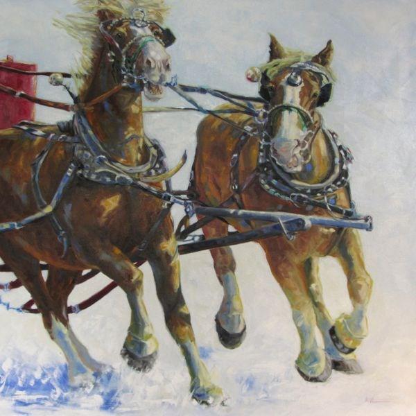 """HORSEPOWER"" original fine art by Mb Warner"