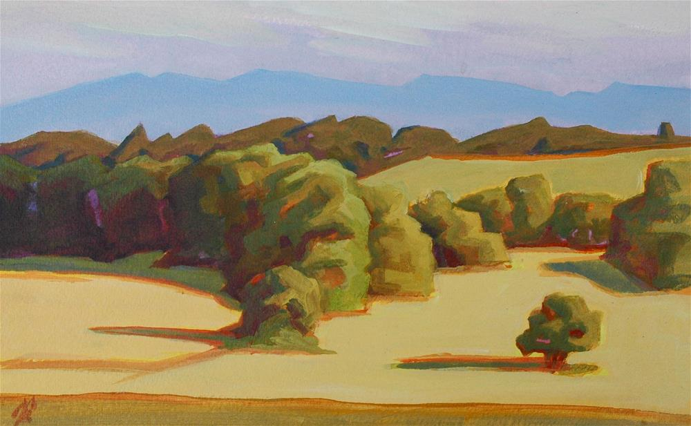 """""""Crescent Valley Sunset"""" original fine art by Mark Allison"""
