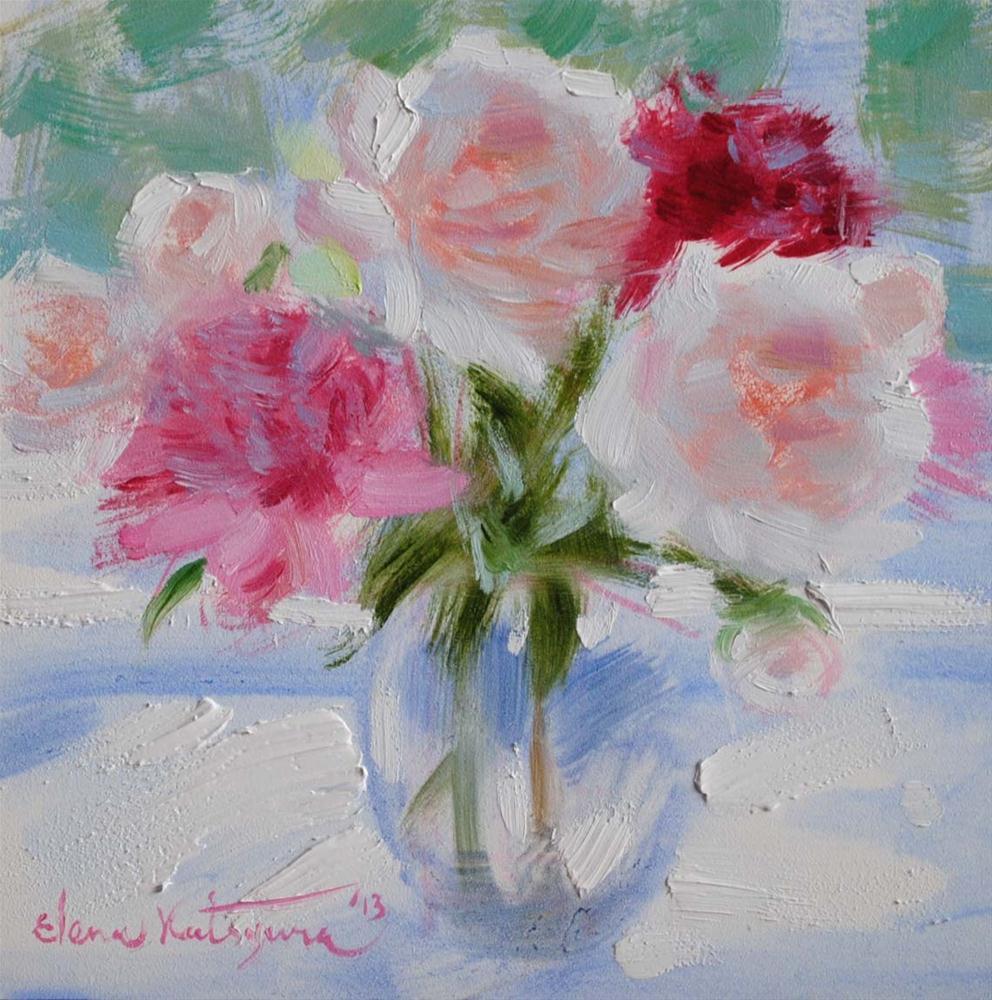 """Morning Flowers"" original fine art by Elena Katsyura"