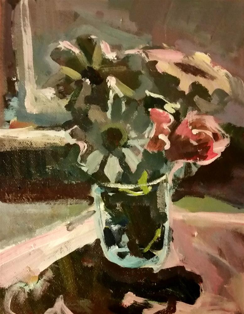 """Flowers Near the Window"" original fine art by Liz Maynes"