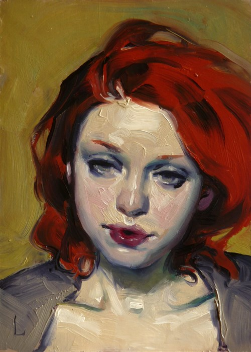 """Grey Eyes"" original fine art by John Larriva"