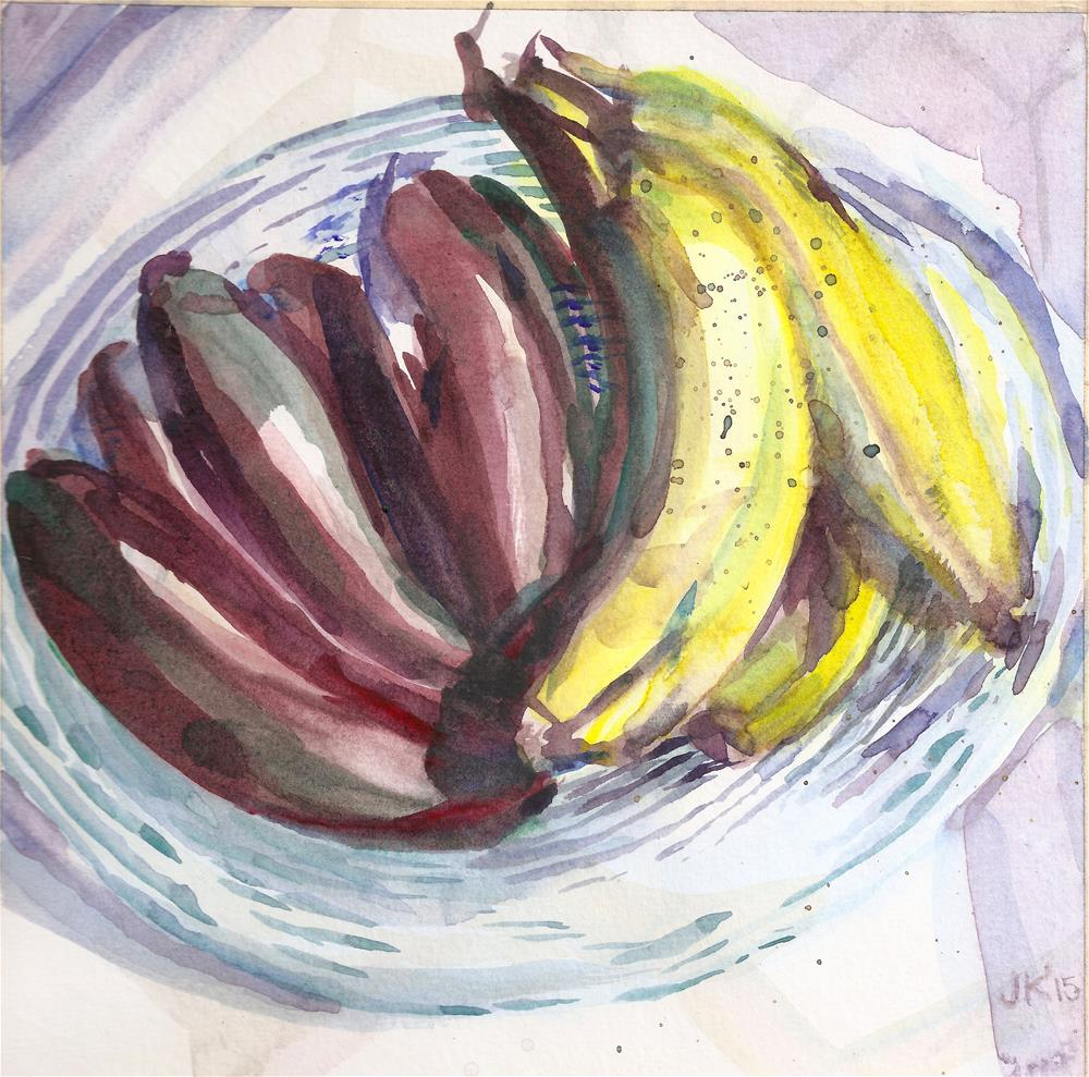 """Red and Yellow Bananas"" original fine art by jean krueger"