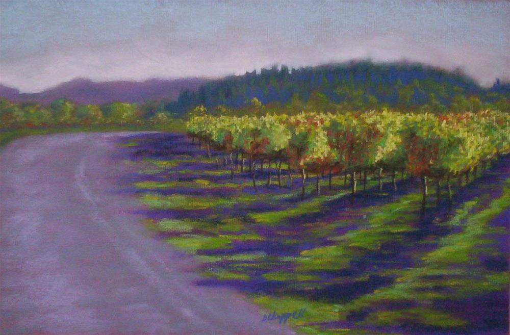 """Napa Vineyard"" original fine art by Becky Chappell"