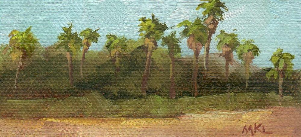 """Palm Trees by the Highway"" original fine art by Marlene Lee"