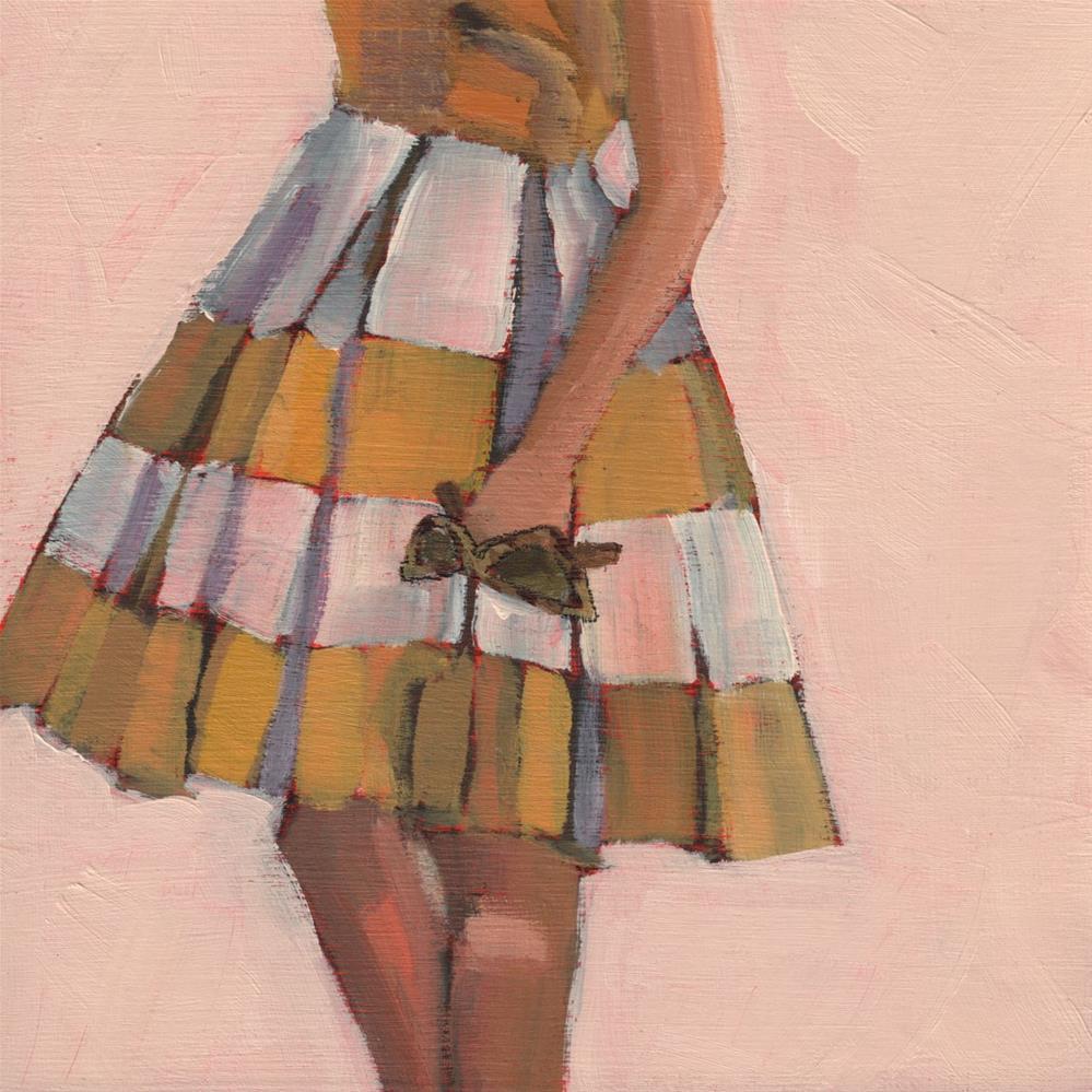 """A Table on the Patio, Please (#398)"" original fine art by Debbie Miller"