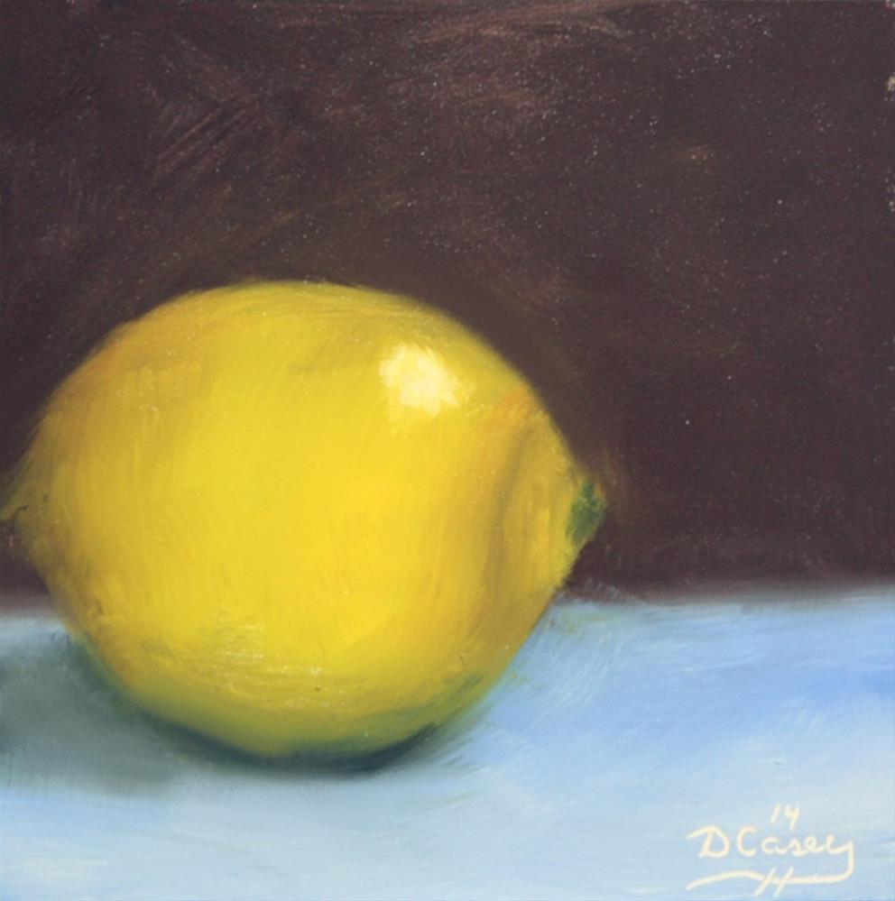 """140828 - Kitchen Painting - Lemon 004a"" original fine art by Dave Casey"