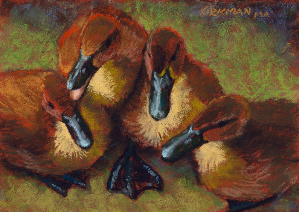 """Quacking Clique"" original fine art by Rita Kirkman"