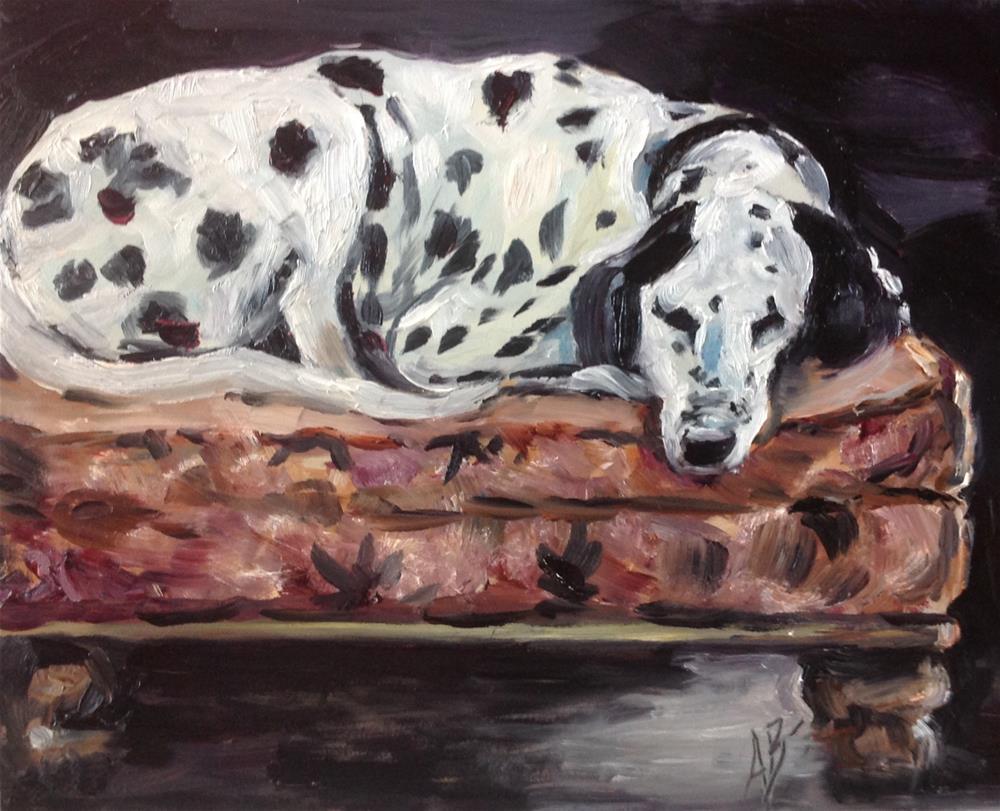"""""""Dalmatian's comfort zone"""" original fine art by Annette Balesteri"""