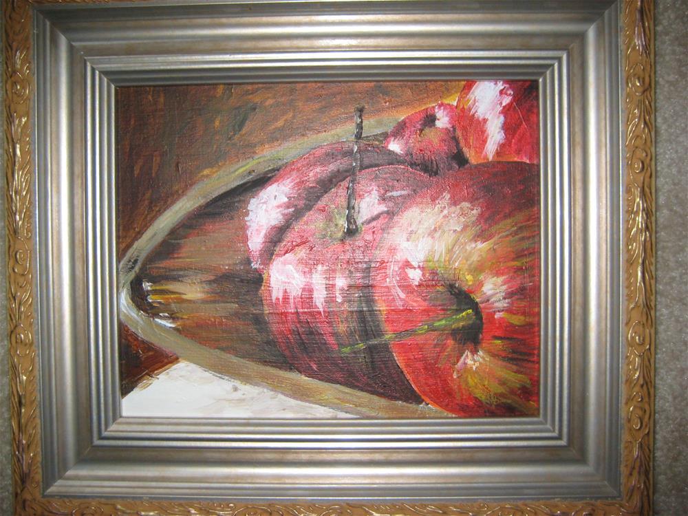 """Apples"" original fine art by Susan Brens"