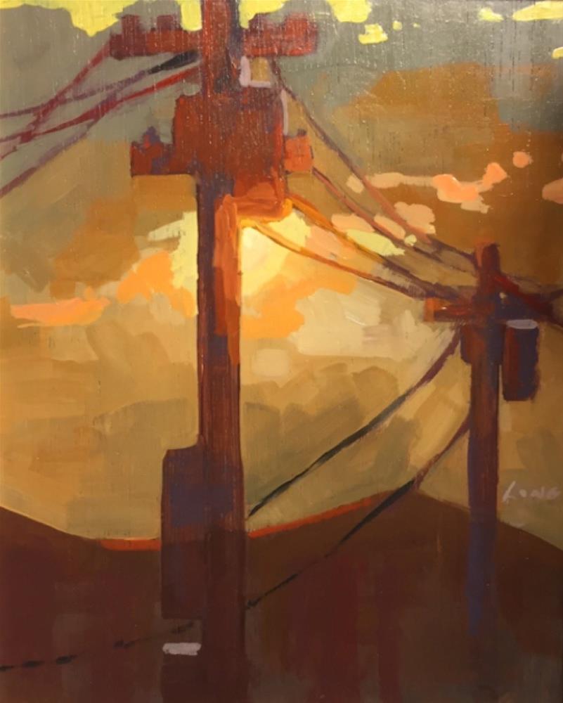 """Powerlines"" original fine art by Chris Long"