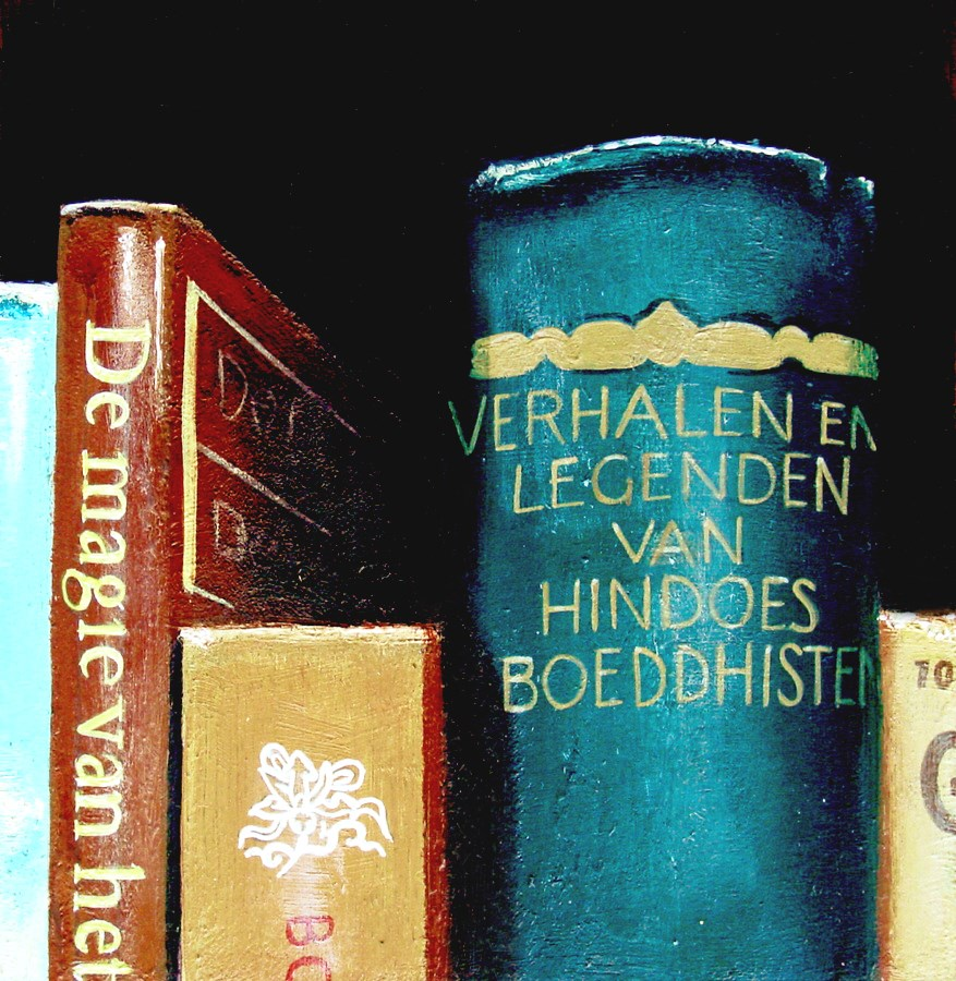 """Tales And Legends- Still Life Painting Of Books On Tales And Legends"" original fine art by Gerard Boersma"