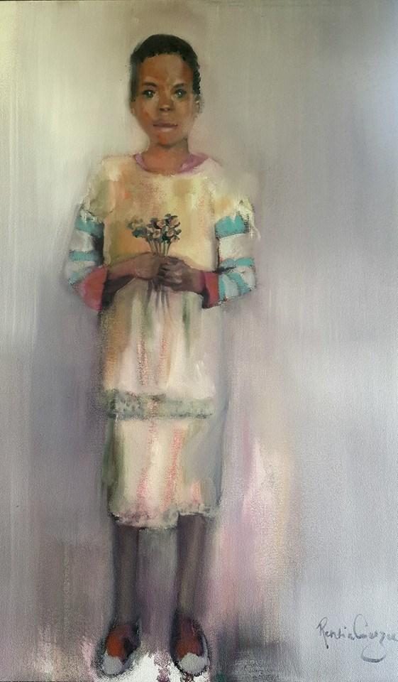 """Hanover child"" original fine art by Rentia Coetzee"