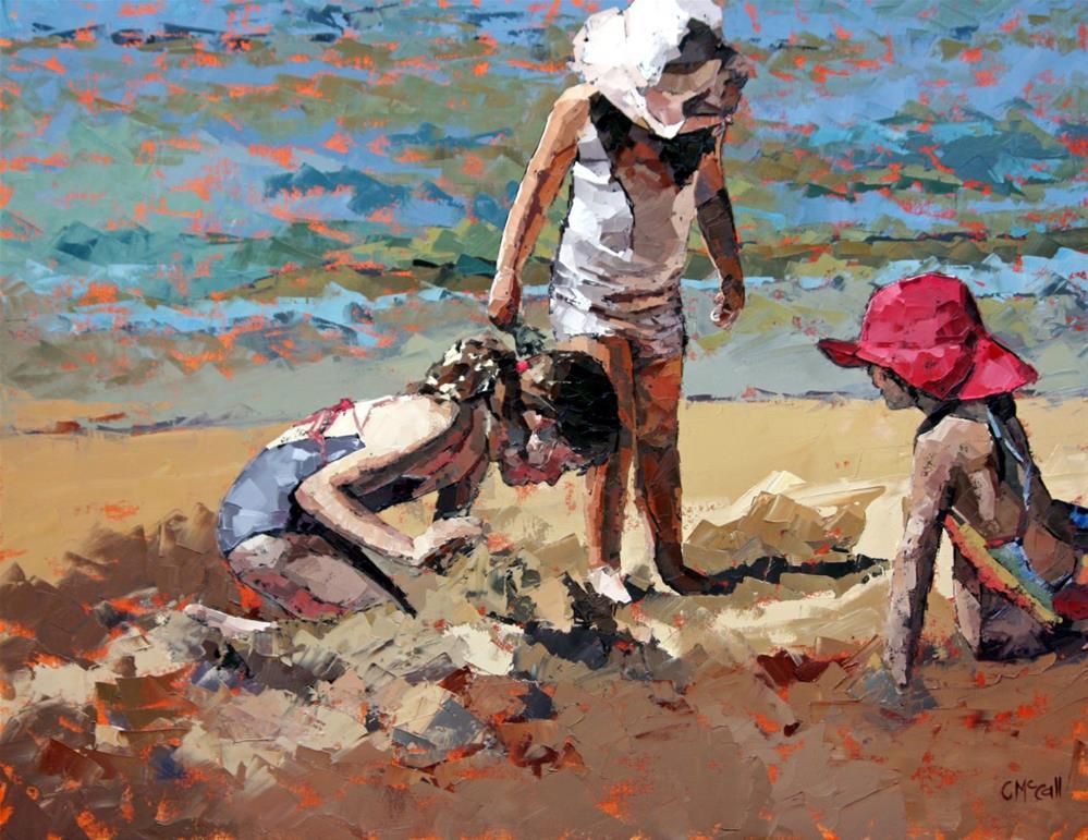 """Sandcastles IV"" original fine art by Claire McCall"