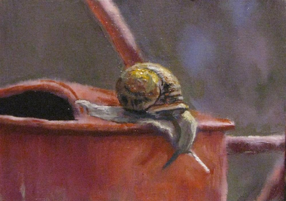 """Garden Explorer"" original fine art by tom dawson"