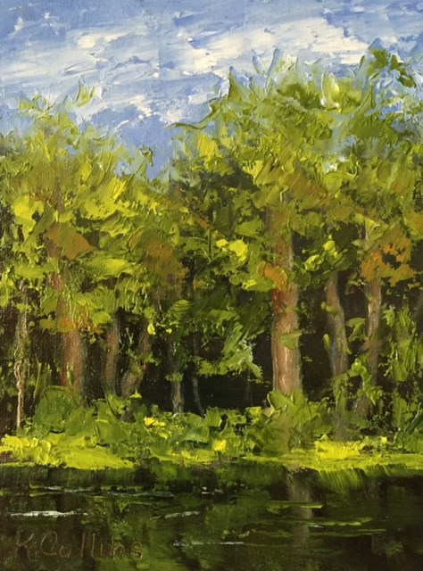 """""""Tall Pines"""" original fine art by Kathy Collins"""
