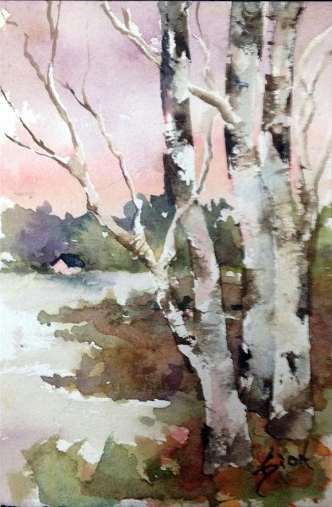 """Winter Light"" original fine art by Sue Dion"