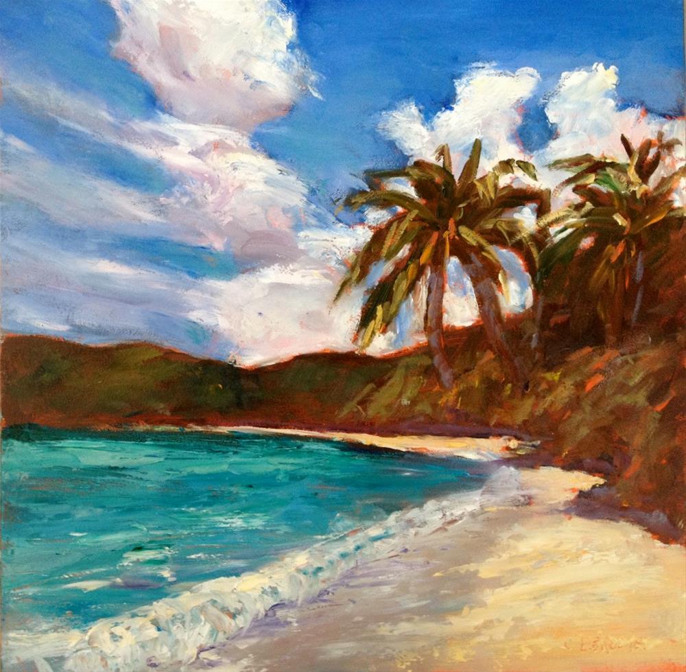"""""""Beach Day"""" original fine art by Claudia L Brookes"""