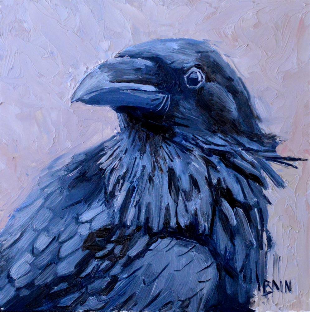 """Raven no. 4"" original fine art by Peter Bain"