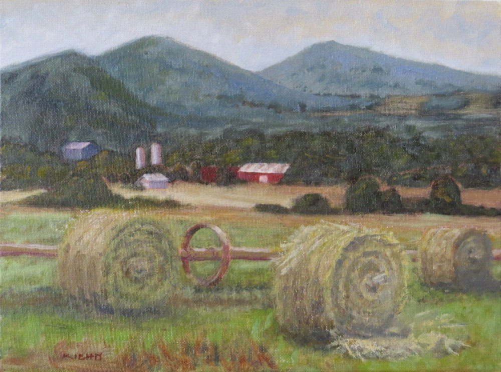 """First Hay on the Old Baxter Ranch"" original fine art by Richard Kiehn"