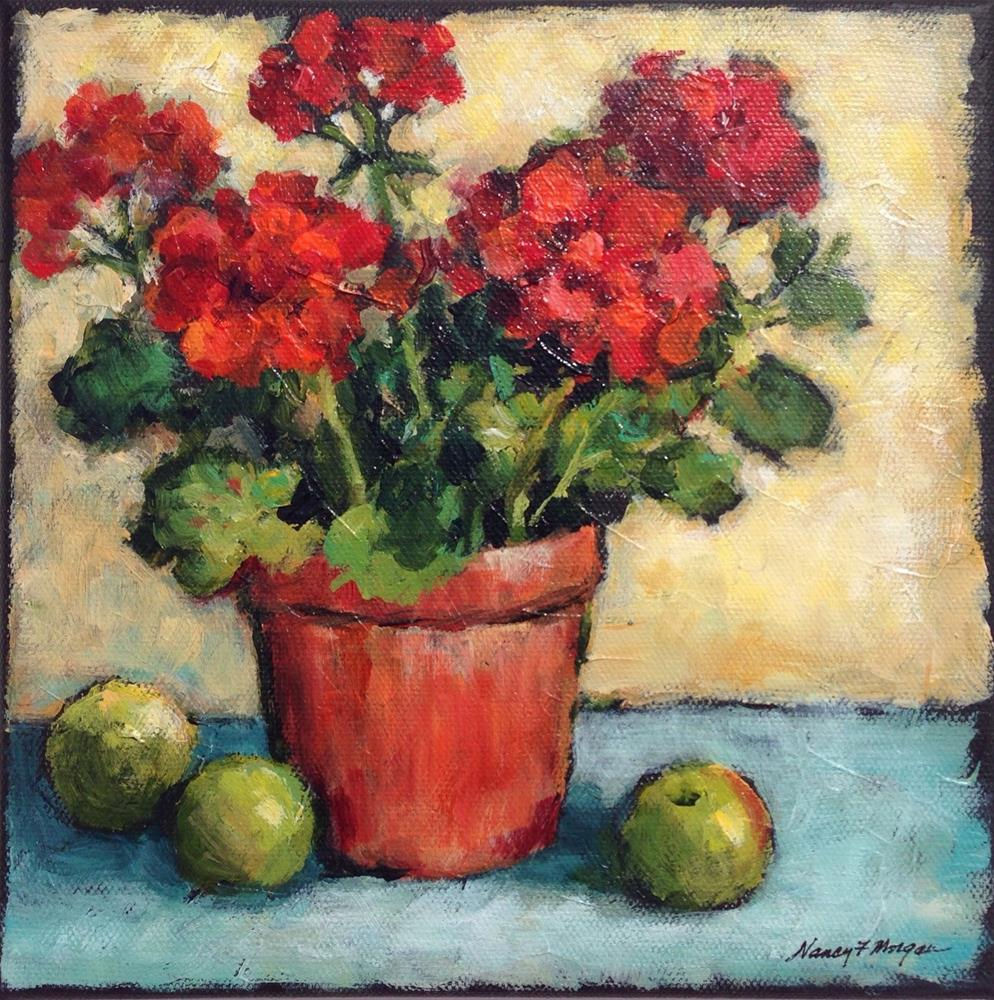 """Geranium Harvest"" original fine art by Nancy F. Morgan"
