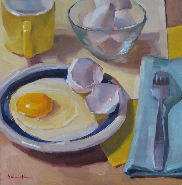 """Sunny Egg"" original fine art by Sarah Sedwick"