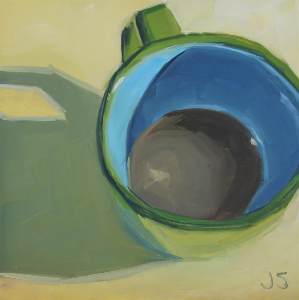 """Mug on Yellow"" original fine art by Jamie Stevens"