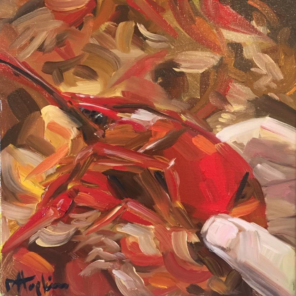 """First Bite"" original fine art by Denise Hopkins"