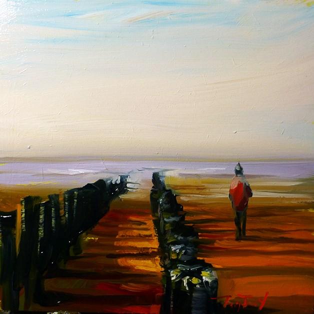 """Am Strand"" original fine art by Jurij Frey"