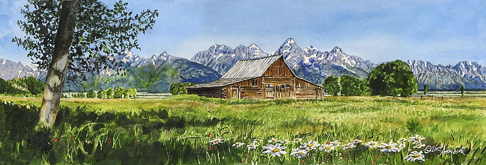 """Teton Summer"" original fine art by Andy Sewell"