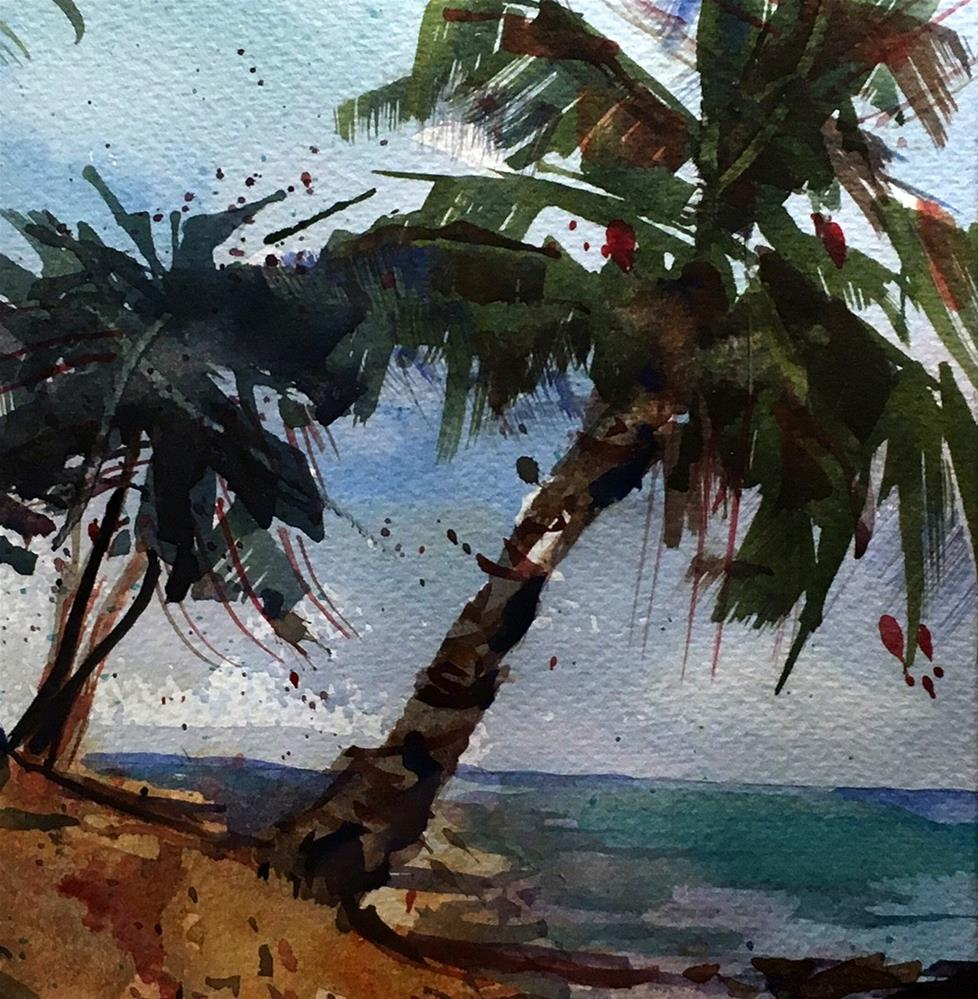 """Palm Tree for Jenny"" original fine art by David Finnell"