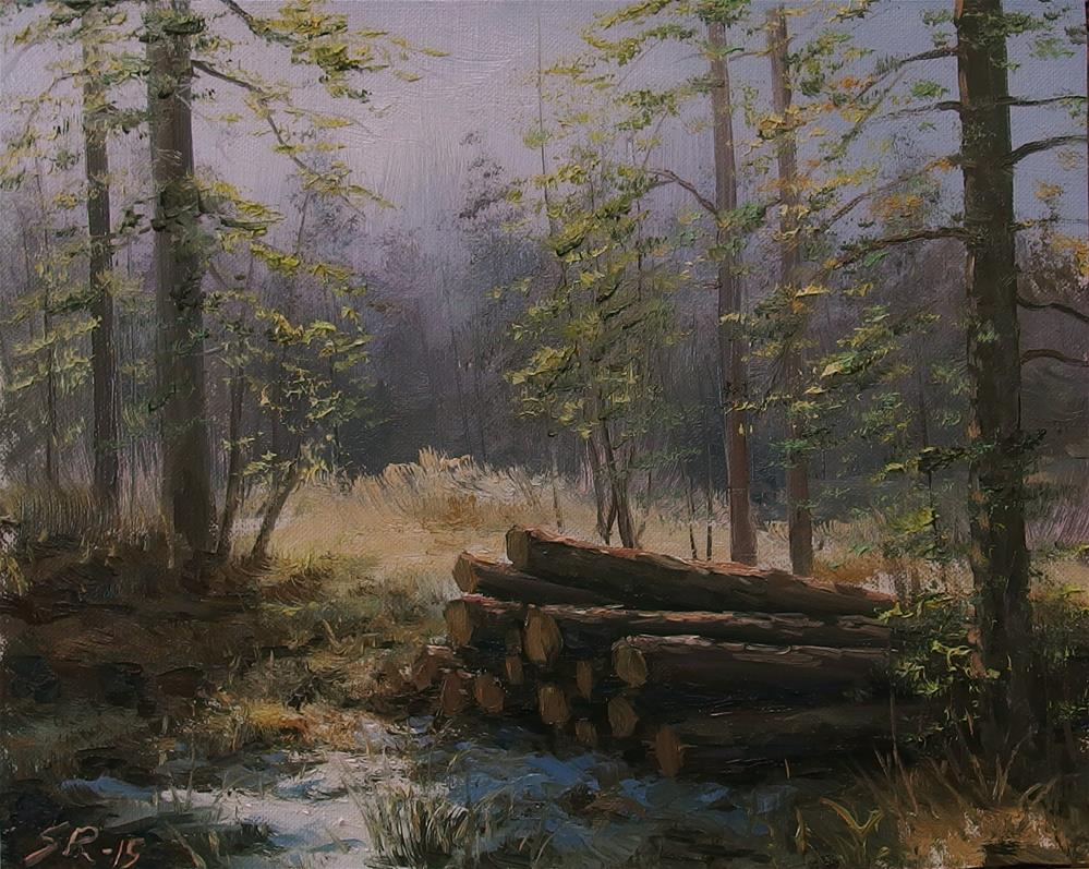 """The clearing"" original fine art by Stig Rosenlund"