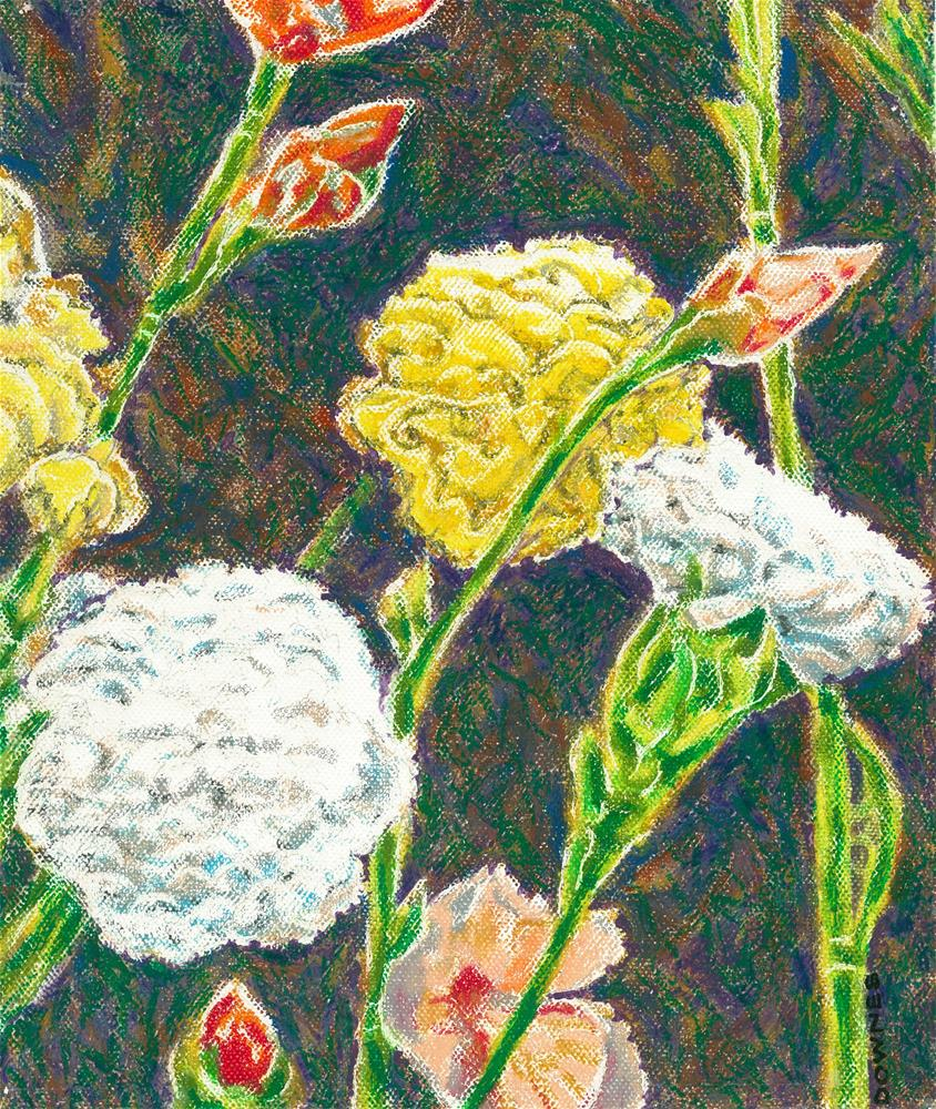 """130 CARNATIONS"" original fine art by Trevor Downes"