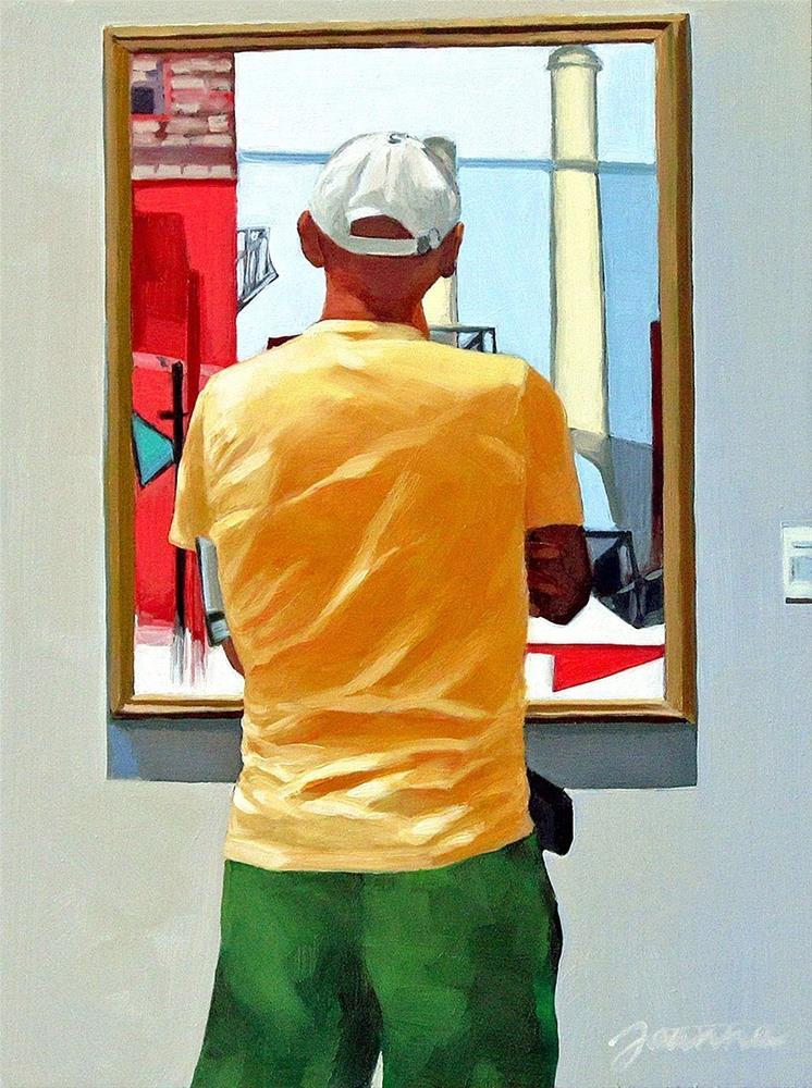 """The Precise Viewer--Painting People in Museum/Gallery Series"" original fine art by Joanna Bingham"