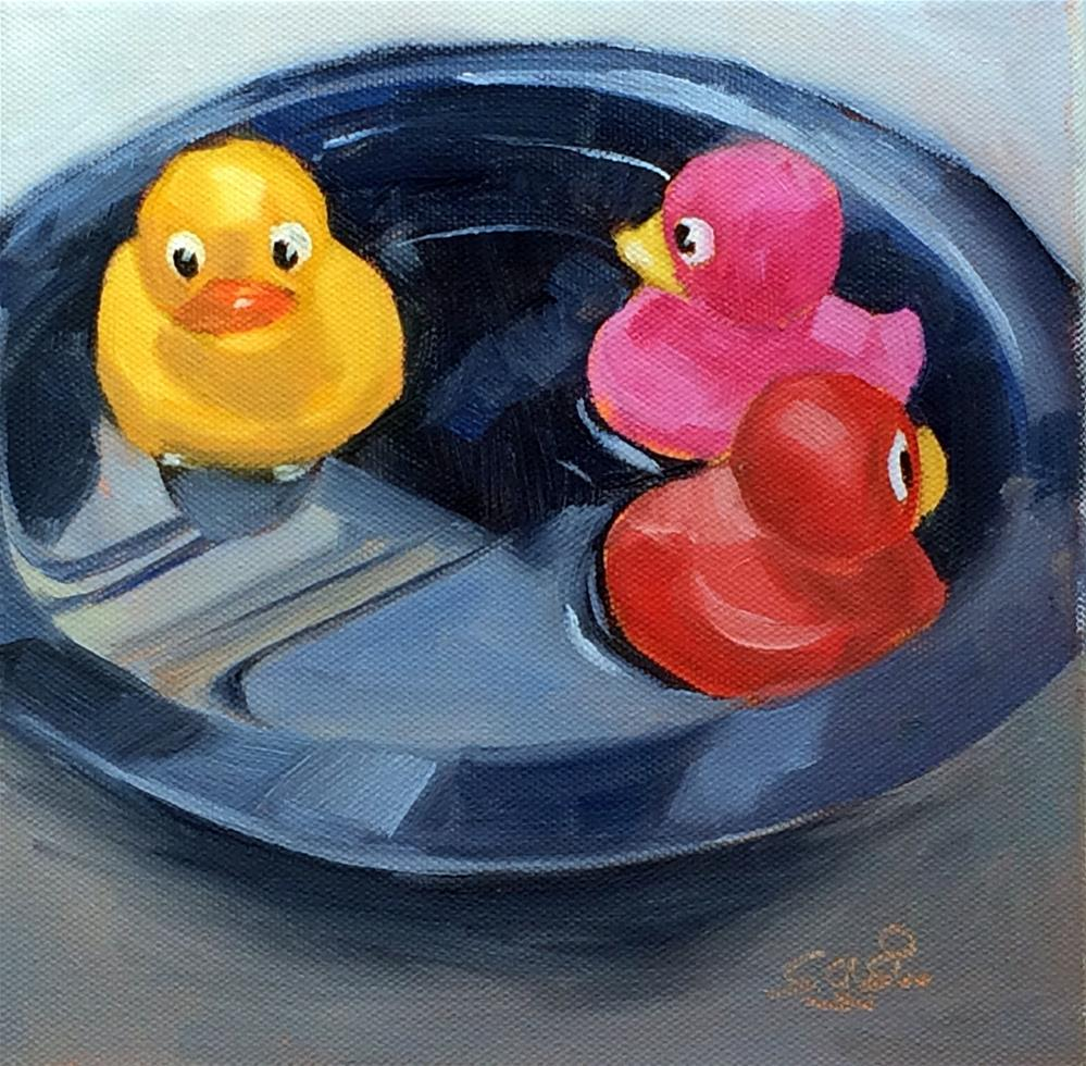 """R - is for Rubber Duckies"" original fine art by Suzanne Gysin"