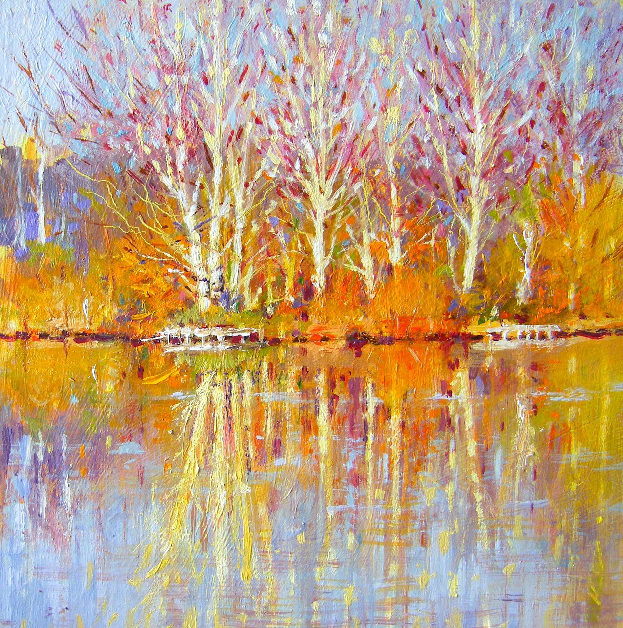 """Newark Lake"" original fine art by Ken Devine"