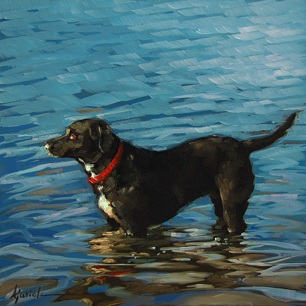 """Water Boy"" original fine art by Karin Jurick"