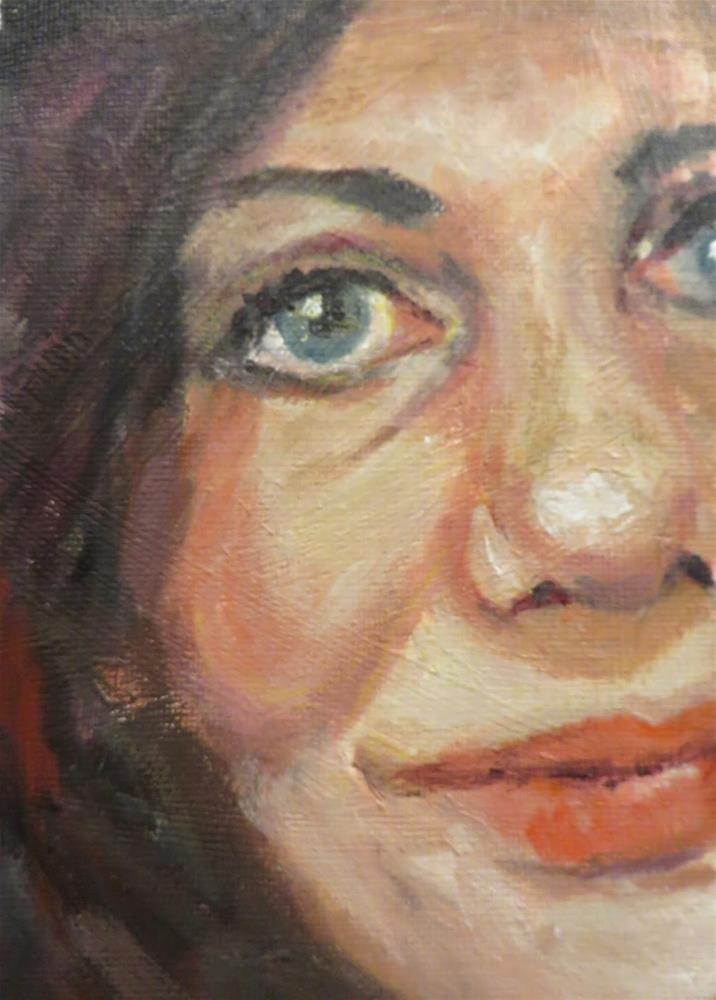 """741 Selfie"" original fine art by Diane Campion"