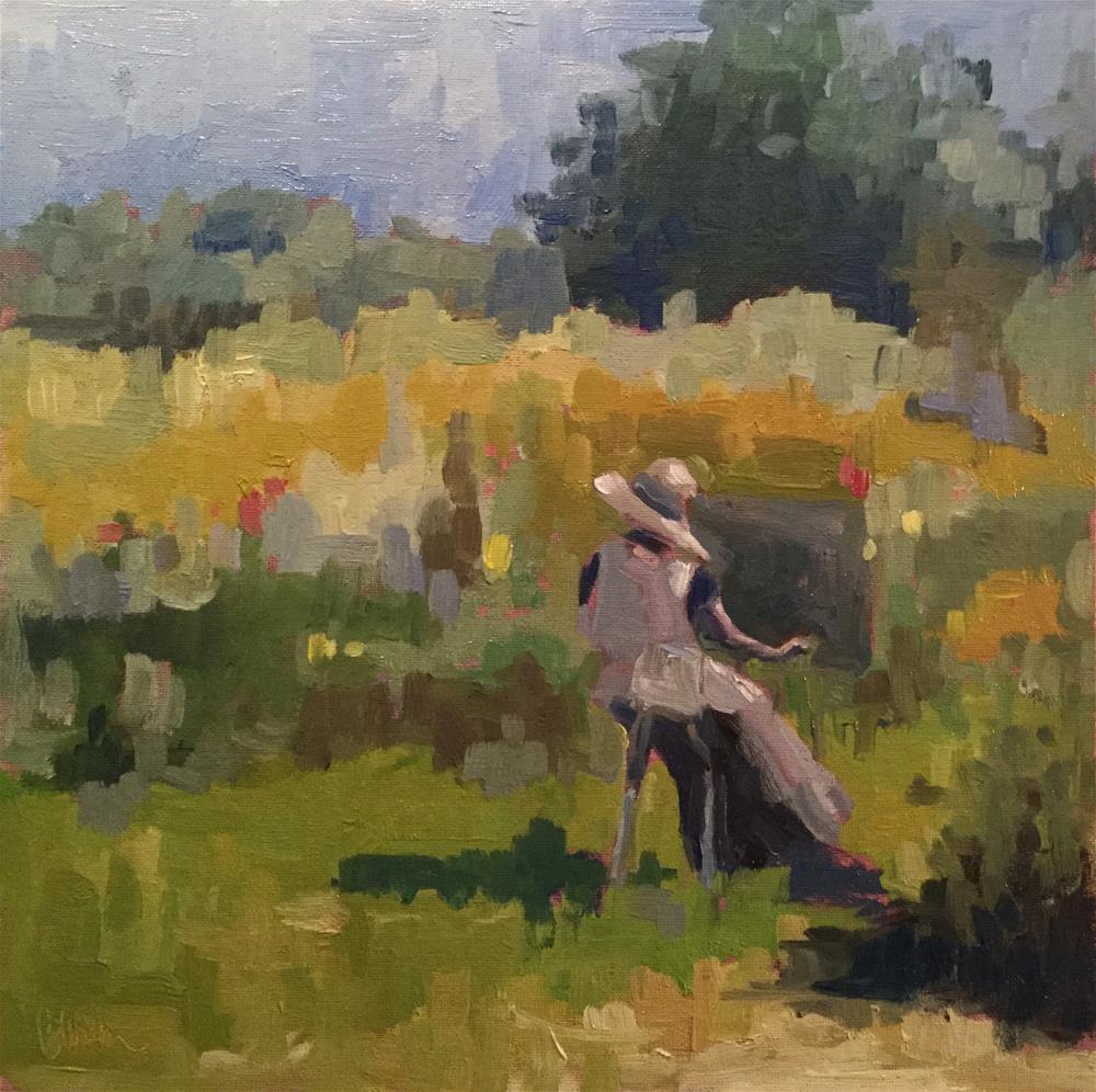 """Artist at Work"" original fine art by Barb Walker"