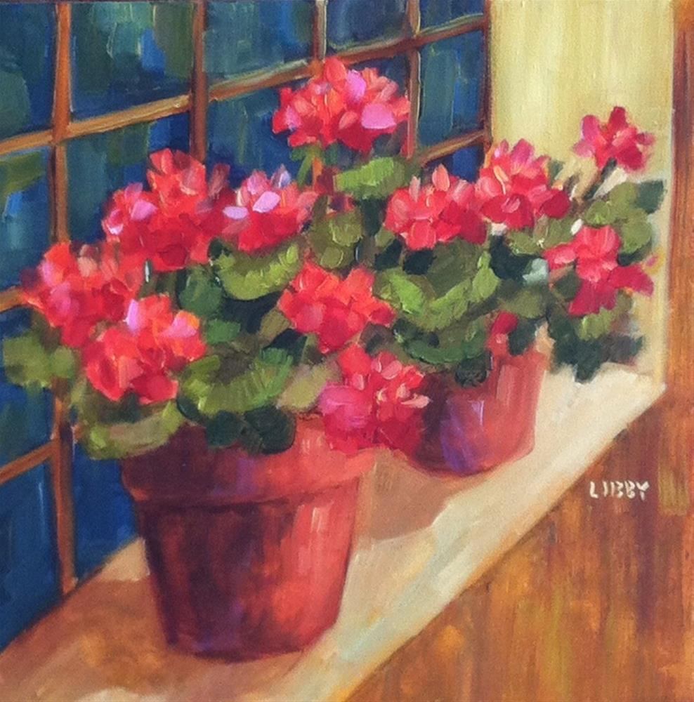 """Red Row"" original fine art by Libby Anderson"