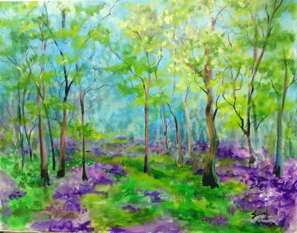 """Spring Woods"" original fine art by Sue Dion"