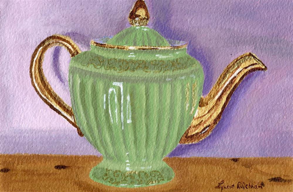 """Vintage Teapot"" original fine art by Lynne Reichhart"