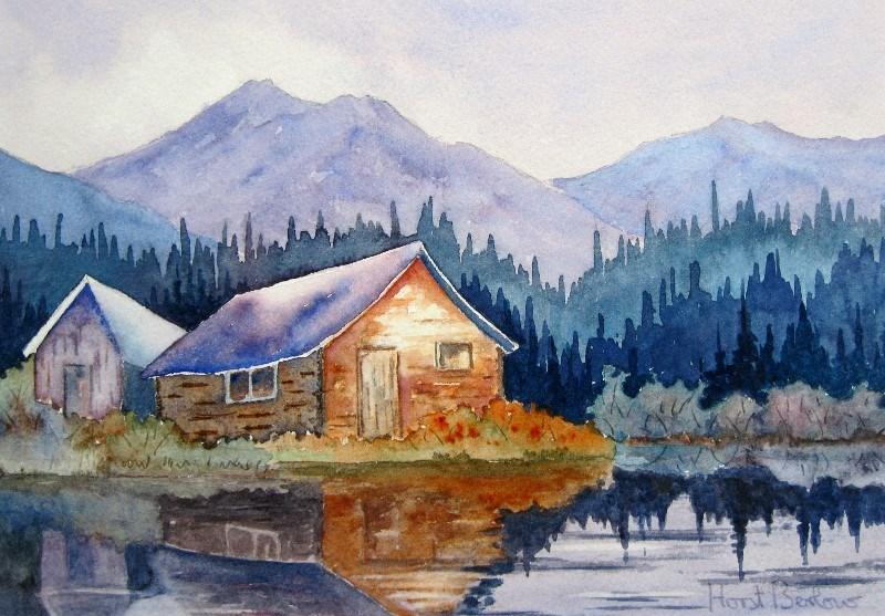 """Evening in the Hills"" original fine art by Horst Berlow"