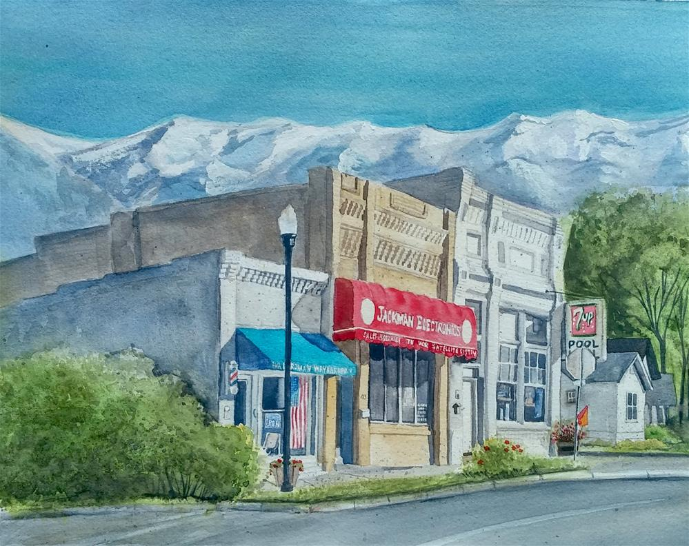 """Pleasant Grove Center Street"" original fine art by Sharleen Hargreaves"