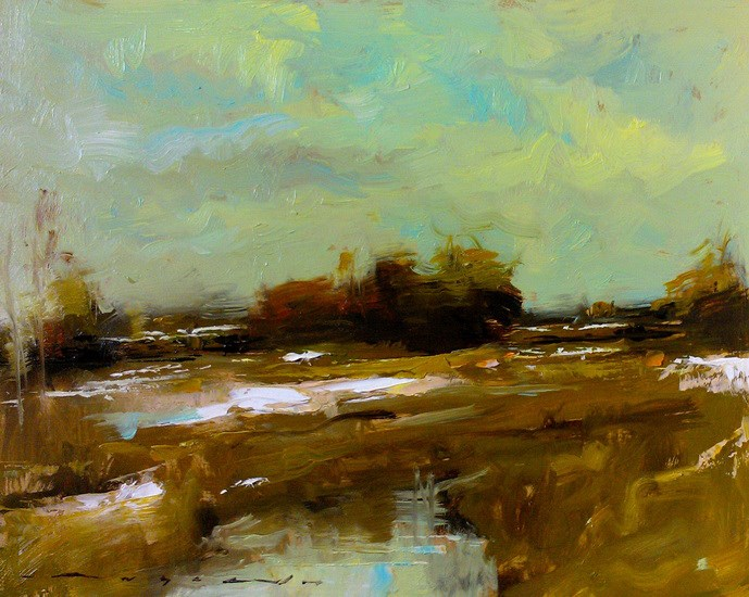 """Snow Fields_003"" original fine art by Angel Angelov"