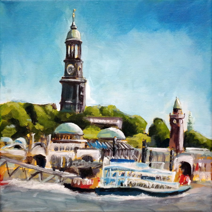 """1227 Hamburg"" original fine art by Dietmar Stiller"